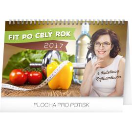 Stolní kalendář Fit po celý rok s Kateřinou Cajthamlovou 2017, 23,1 x 14,5 cm