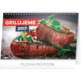 Stolní kalendář Grilujeme 2017, 23,1 x 14,5 cm