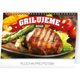 Stolní kalendář Grilujeme 2018, 23,1 x 14,5 cm