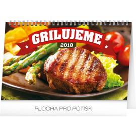 Desk calendar Grilujeme SK 2018, 23,1 x 14,5 cm