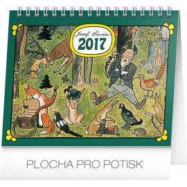 Stolní kalendář Josef Lada – V lese 2017, 16,5 x 13 cm