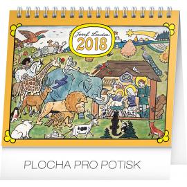 Desk calendar Josef Lada – Zvířátka 2018, 16,5 x 13 cm