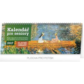 Stolní kalendář Kalendář pro seniory – Slavné obrazy 2017, 33 x 12,5 cm