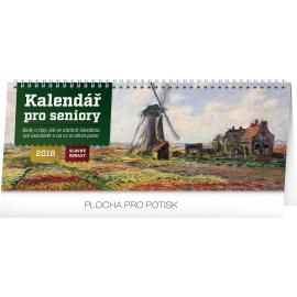 Stolní kalendář Kalendář pro seniory – Slavné obrazy 2018, 33 x 12,5 cm