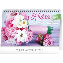 Desk calendar Krása květin – Krása kvetov CZ/SK 2018, 23,1 x 14,5 cm
