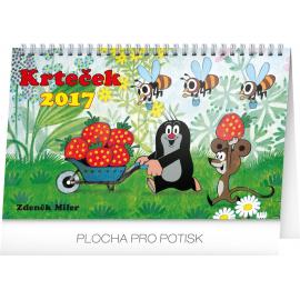 Stolní kalendář Krteček 2017, 23,1 x 14,5 cm