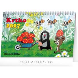 Stolní kalendář Krtko SK 2017, 23,1 x 14,5 cm