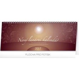 Stolní kalendář Nový lunární kalendář 2017, 33 x 12,5 cm