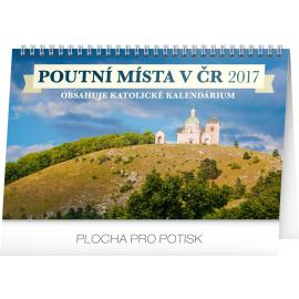 Stolní kalendář Poutní místa v ČR 2017, 23,1 x 14,5 cm