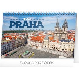 Stolní kalendář Praha 2017, 23,1 x 14,5 cm