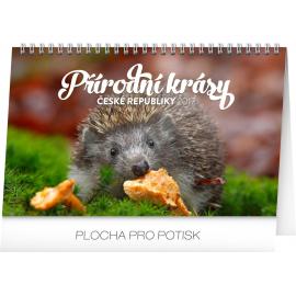 Stolní kalendář Přírodní krásy České republiky 2017, 23,1 x 14,5 cm