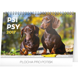 Stolní kalendář Psi – Psy CZ/SK 2017, 23,1 x 14,5 cm
