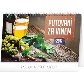 Stolní kalendář Putování za vínem 2017, 23,1 x 14,5 cm