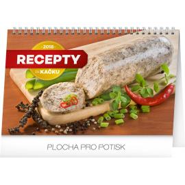 Stolní kalendář Recepty za kačku 2018, 23,1 x 14,5 cm