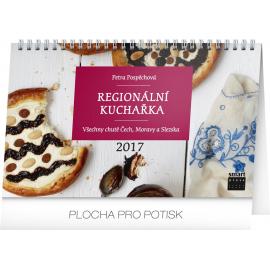 Stolní kalendář Regionální kuchařka 2017, 23,1 x 14,5 cm