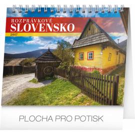 Stolní kalendář Rozprávkové Slovensko SK 2017, 16,5 x 13 cm