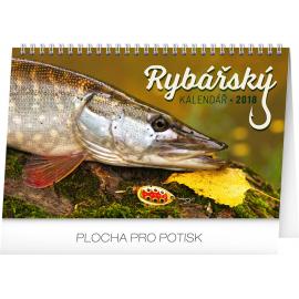 Stolní kalendář Rybářský kalendář 2018, 23,1 x 14,5 cm