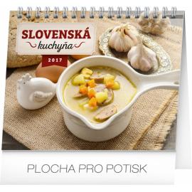 Stolní kalendář Slovenská kuchyňa SK 2017, 16,5 x 13 cm