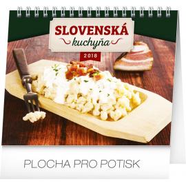 Desk calendar Slovenská kuchyňa SK 2018, 16,5 x 13 cm
