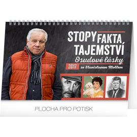 Stolní kalendář Stopy, fakta, tajemství – Stanislav Motl 2017, 23,1 x 14,5 cm