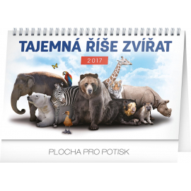 Stolní kalendář Tajemná říše zvířat 2017, 23,1 x 14,5 cm