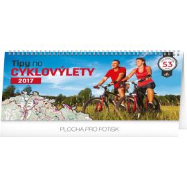 Stolní kalendář Tipy na cyklovýlety 2017, 30 x 16 cm