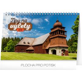 Stolní kalendář Tipy na výlety SK 2018, 23,1 x 14,5 cm