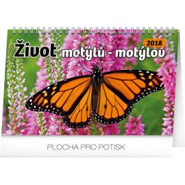 Stolní kalendář Život motýlů – motýlov CZ/SK 2018, 23,1 x 14,5 cm