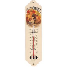Metal Thermometer Alfons Mucha – Bieres de la Meuse