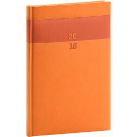 Weekly diary Aprint 2018, oranžový, 15 x 21 cm, A5