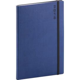 Týdenní diář Soft 2018, modročerný, 15 x 21 cm, A5