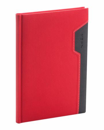 Týdenní diář Thun 2017, červenočerný, 15 x 21 cm, A5