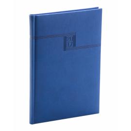 Týdenní diář Vivella 2017, modrý, 15 x 21 cm, A5