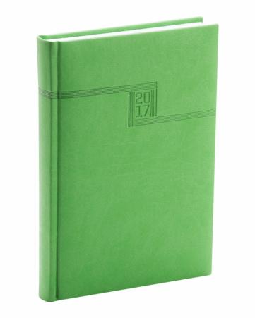 Týdenní diář Vivella 2017, zelený, 15 x 21 cm, A5