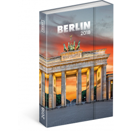 Týdenní magnetický diář Berlín 2018, 10,5 x 15,8 cm