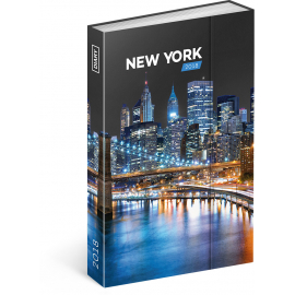 Weekly magnetic diary New York 2018, 10,5 x 15,8 cm