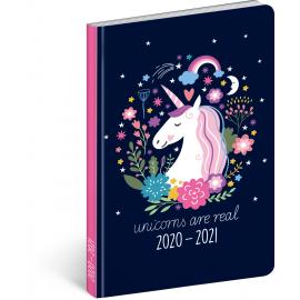 18měsíční diář Petito – Jednorožec 2020/2021, 11 × 17 cm