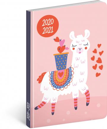 18měsíční diář Petito – Lama 2020/2021, 11 × 17 cm