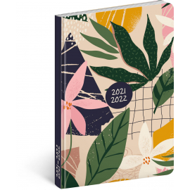 18month Petito diary Leaves 2021/2022, 11 × 17 cm
