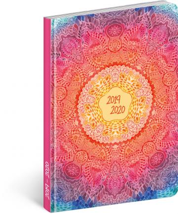 18měsíční diář Petito – Mandala 2019/2020, 11 × 17 cm