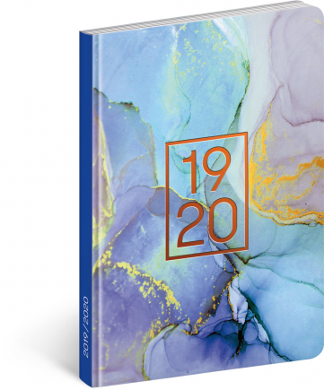 18měsíční diář Petito – Marble 2019/2020, 11 × 17 cm