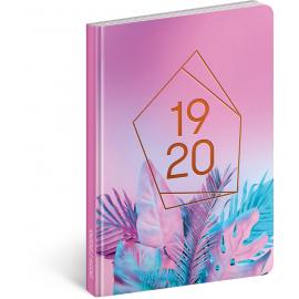 18měsíční diář Petito – Neon 2019/2020, 11 × 17 cm
