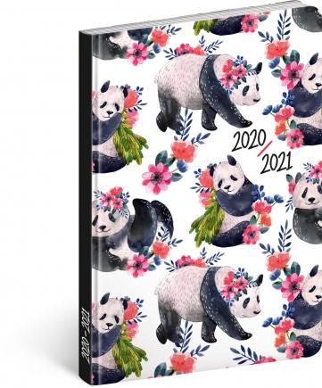 18měsíční diář Petito – Pandy 2020/2021, 11 × 17 cm