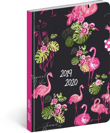 18měsíční diář Petito – Plameňáci 2019/2020, 11 × 17 cm