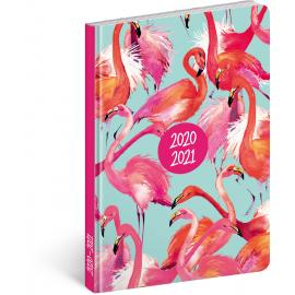 18month Petito diary Flamingos 2020/2021, 11 × 17 cm
