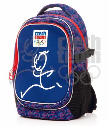 Batoh školní Český olympijský tým – Zátopek, modrý, s ALU konstrukcí