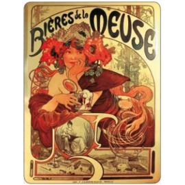 Cedule Alfons Mucha – Bieres, 30 x 40 cm