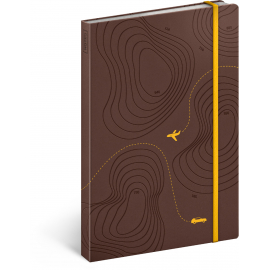 Travel journal notebook, lined, 13 × 21 cm