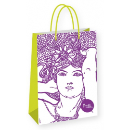 Gift bag Alfons Mucha – Amethyst, Fresh Collection, large