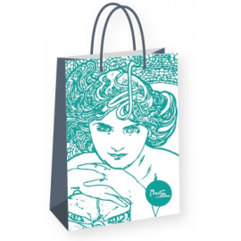 Gift bag Alfons Mucha – Emerald, Fresh Collection, medium